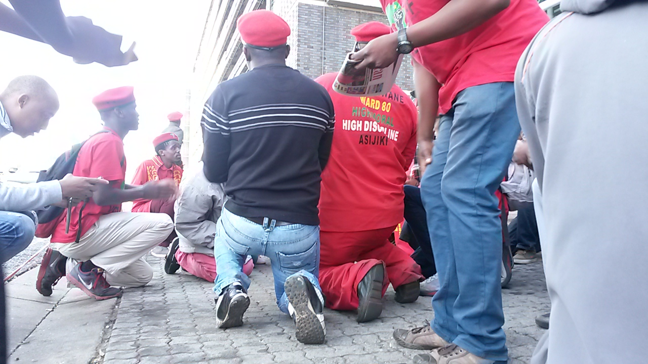 in the thick of a EFF protest